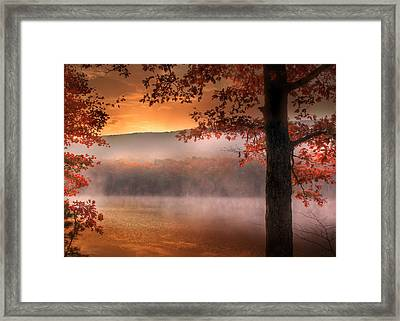 Autumn Atmosphere Framed Print by Lori Deiter
