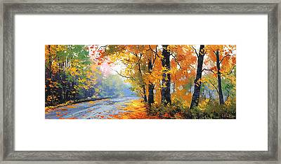 Autumn Backlight Framed Print by Graham Gercken