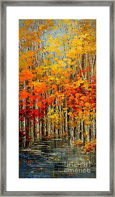 Autumn Banners Framed Print by Tatiana Iliina