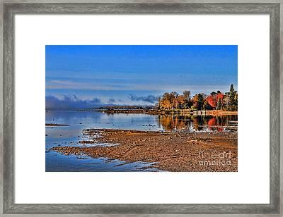Autumn Beach Solitude Framed Print