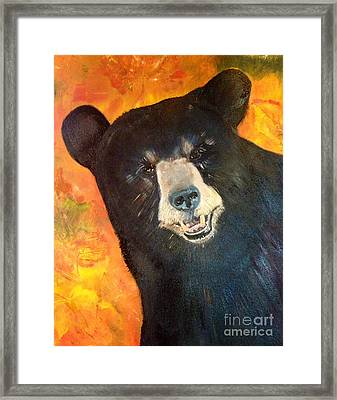 Autumn Bear Framed Print by Jan Dappen