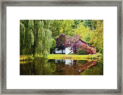 Autumn Beauty At Weston Vermont Framed Print by Priscilla Burgers