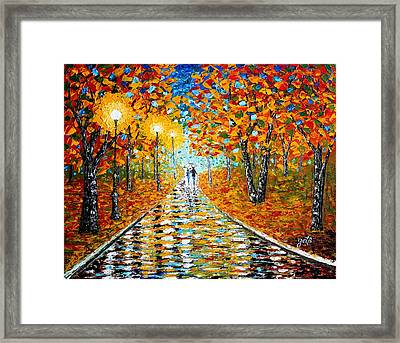 Autumn Beauty Original Palette Knife Painting Framed Print