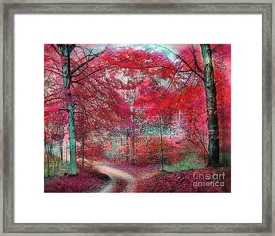 Autumn Beeches Framed Print
