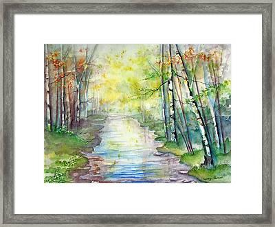 Autumn Birch Framed Print