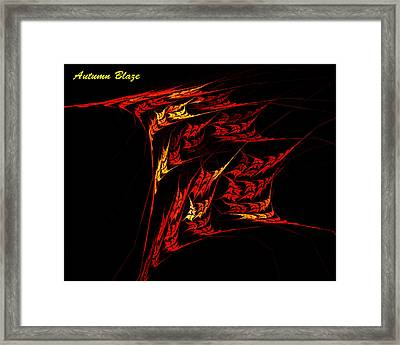 Framed Print featuring the digital art Autumn Blaze by R Thomas Brass