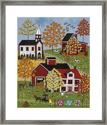 Autumn Blessings Framed Print by Medana Gabbard