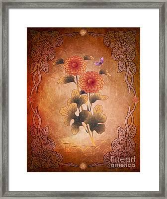 Autumn Blooming Mum Framed Print by Bedros Awak