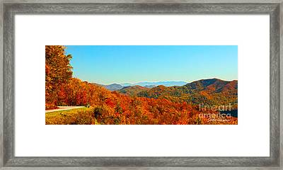 Autumn Blue Ridge Framed Print
