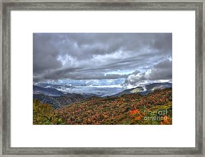 Autumn Blue Ridge Parkway North Carolina Framed Print by Reid Callaway