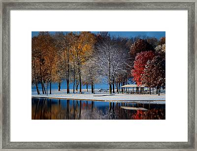 Autumn Blues Framed Print