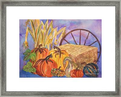 Autumn Bounty Framed Print by Ellen Levinson