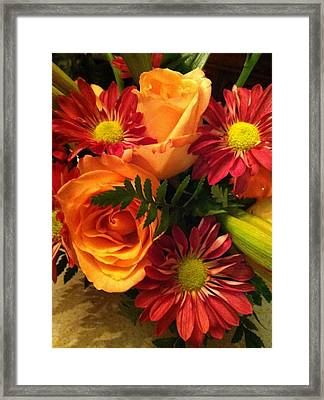 Autumn Bouquet Framed Print