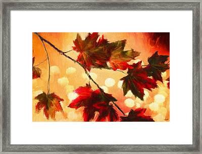 Autumn Branch Framed Print by Lourry Legarde