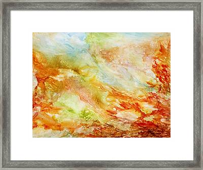 Autumn Breeze Framed Print by Rosie Brown