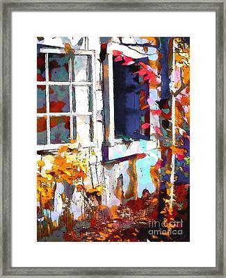 Autumn Breeze Through Open Windows    Windows Framed Print by Barbara D Richards