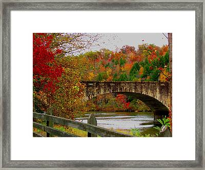 Autumn Bridge 1 Framed Print