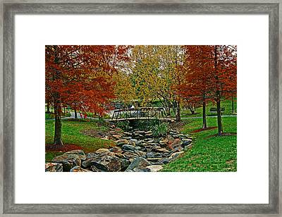 Framed Print featuring the photograph Autumn Bridge by Andy Lawless