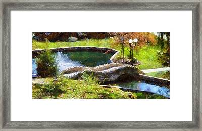 Autumn Bridge In Indiana Framed Print by Dan Sproul