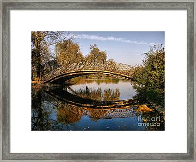 Autumn Bridge In Romania Framed Print