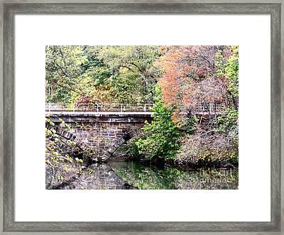 Autumn Bridge Framed Print by Melissa Stoudt