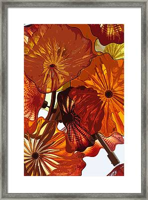 Framed Print featuring the digital art Autumn Burst by Kirt Tisdale