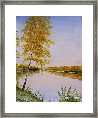 Autumn By The River Framed Print by Martin Howard