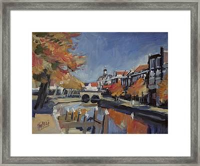 Autumn Canal Leiden Framed Print