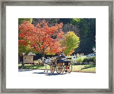 Autumn Carriage Ride Framed Print by Barbara McDevitt