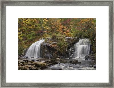 Autumn Cascades Framed Print by Debra and Dave Vanderlaan