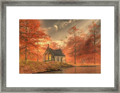 Autumn Chapel Framed Print by Christian Art
