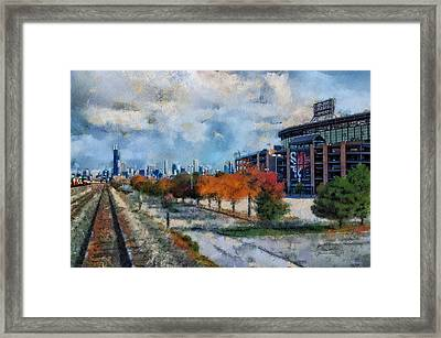 Autumn Chicago White Sox Us Cellular Field Mixed Media 03 Framed Print