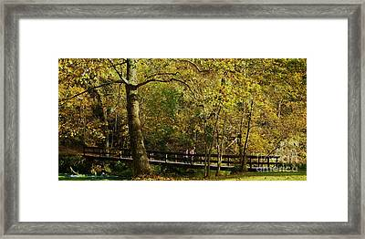 Autumn Childhood Framed Print by Julie Clements