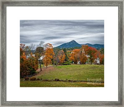 Autumn Chocorua Framed Print by Scott Thorp