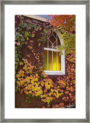 Autumn Church Framed Print