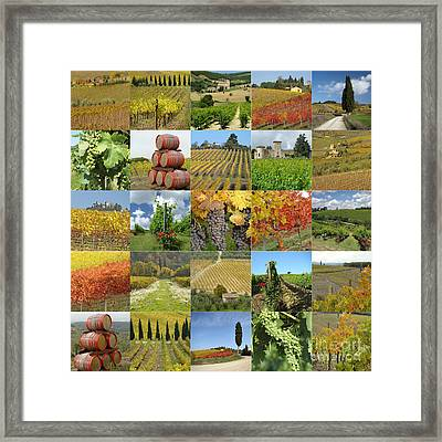 Autumn  Collage Framed Print by Boon Mee