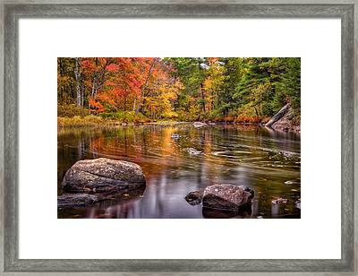 Autumn Color On The Isinglass River Framed Print by Jeff Sinon