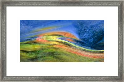 Autumn Color Swirl Framed Print