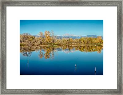 Autumn Colorado Twin Peaks Golden Ponds Reflections Framed Print by James BO  Insogna