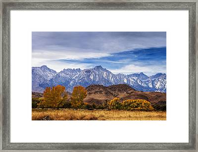 Autumn Colors And Mount Whitney Framed Print