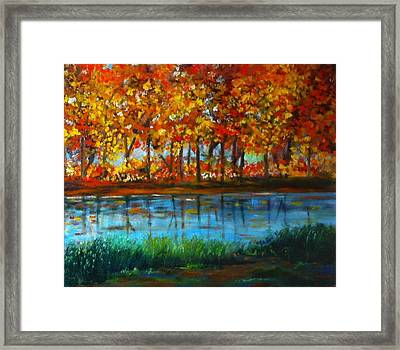 Autumn Colors Framed Print by B Russo