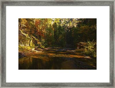 Autumn Colors By The Creek  Framed Print
