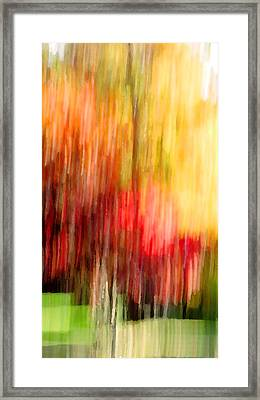 Autumn Colors In Abstract Framed Print