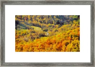 Autumn Colors In Shenandoah Framed Print by Dan Sproul