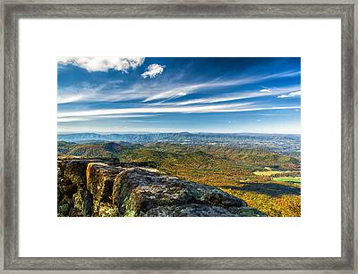 Autumn Colors In The Blue Ridge Mountains Framed Print