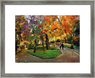 Autumn Colors - Lugano Framed Print by Sefedin Stafa