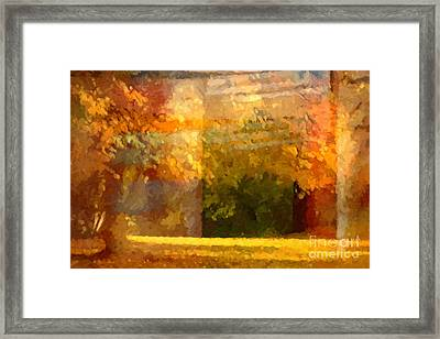 Autumn Colors Painterly Framed Print