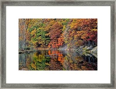 Autumn Colors Reflect Framed Print by Frozen in Time Fine Art Photography