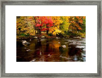 Autumn Colors Reflected Framed Print by Jeff Folger