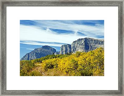 Autumn Colours Framed Print by Claude Dalley